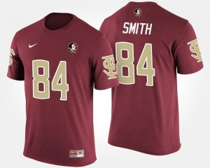Garnet #84 Rodney Smith Florida State Seminoles T-Shirt For Men's Name and Number