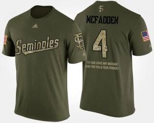 #4 Short Sleeve With Message Men Military Camo Tarvarus McFadden Florida State T-Shirt