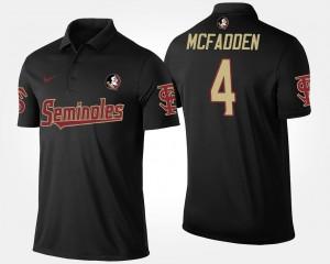 Name and Number For Men's Black Tarvarus McFadden FSU Seminoles Polo #4