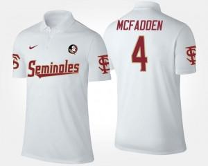Tarvarus McFadden FSU Polo White Mens Name and Number #4