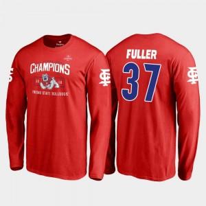 Red Asa Fuller Fresno State Bulldogs T-Shirt 2018 Las Vegas Bowl Champions Men Blitz Long Sleeve Fanatics Branded #37