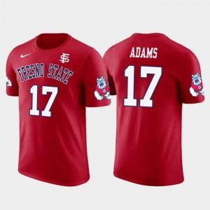 #17 Future Stars Men's Green Bay Packers Football Davante Adams Fresno State T-Shirt Red