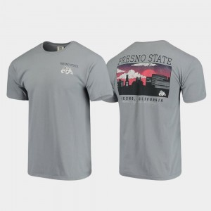 Comfort Colors Campus Scenery Men's Gray Fresno State Bulldogs T-Shirt