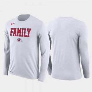 Mens Fresno State Bulldogs T-Shirt March Madness Basketball Performance Long Sleeve Family on Court White