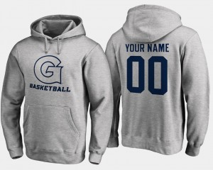 #00 Men's Gray Basketball Name and Number Georgetown University Customized Hoodies