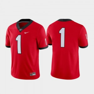 Football Nike Game Men #1 UGA Jersey Red