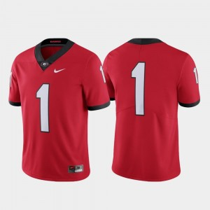 UGA Bulldogs Jersey College Football Nike Limited Red #1 Mens