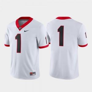 #1 White UGA Bulldogs Jersey For Men Game College Football Nike