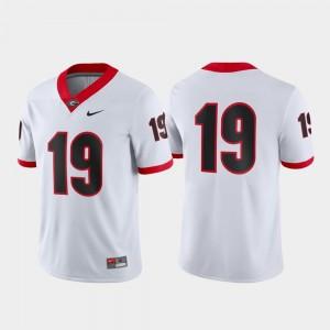 White For Men's Georgia Bulldogs Jersey Nike #19 Game