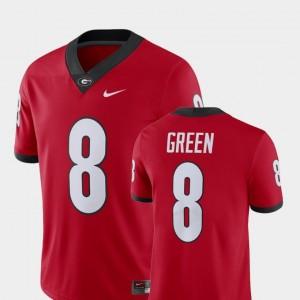 Alumni Football Game Men A.J. Green University of Georgia Jersey Player Nike Red #8