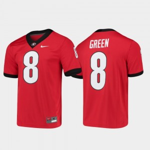 Alumni Player College Football For Men's Game Red A.J. Green UGA Jersey #8