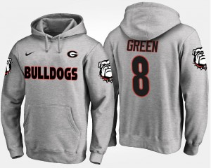 Gray A.J. Green Georgia Bulldogs Hoodie Name and Number For Men's #8