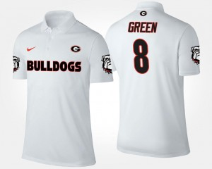A.J. Green Georgia Bulldogs Polo For Men #8 Name and Number White