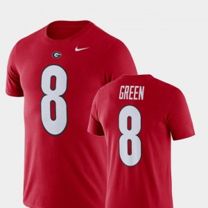 A.J. Green UGA Bulldogs T-Shirt Nike Football Performance Name and Number Mens #8 Red