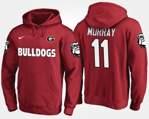 Aaron Murray Georgia Hoodie For Men's Name and Number Red #11