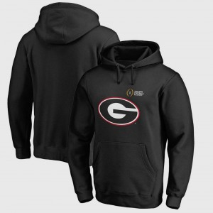 Bowl Game Georgia Hoodie Mens Black College Football Playoff 2018 Rose Bowl Bound Checkdown