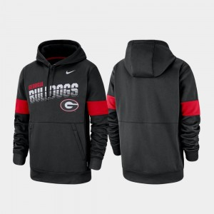 Pullover Nike Performance Black UGA Bulldogs Hoodie For Men