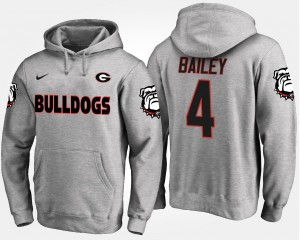 #4 Name and Number Gray Champ Bailey Georgia Hoodie Men's