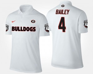 Name and Number For Men White #4 Champ Bailey Georgia Polo