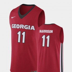 College Basketball #11 Christian Harrison University of Georgia Jersey Mens Replica Red