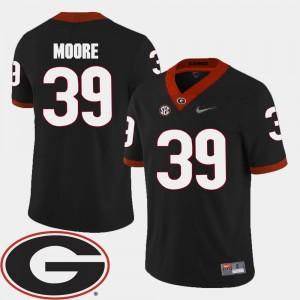 Black College Football 2018 SEC Patch #39 Corey Moore Georgia Bulldogs Jersey For Men