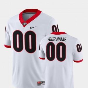 White Georgia Customized Jersey College Football 2018 Game Nike For Men's #00