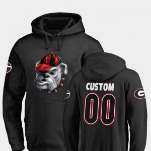 Midnight Mascot UGA Custom Hoodie Fanatics Branded Football Mens #00 Black