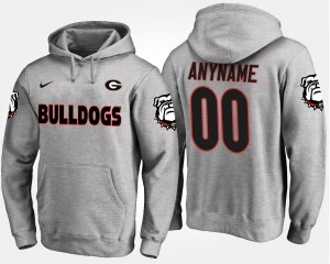 Gray #00 Mens Name and Number University of Georgia Customized Hoodies