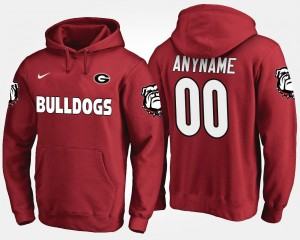 Georgia Bulldogs Customized Hoodies #00 Name and Number For Men's Red