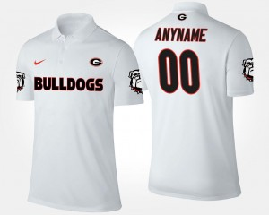 Name and Number For Men's Georgia Bulldogs Customized Polo White #00