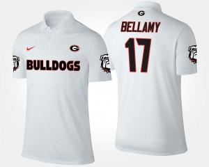 For Men's Name and Number White #17 Davin Bellamy UGA Bulldogs Polo