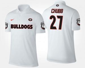 Nick Chubb UGA Bulldogs Polo Name and Number Mens #27 White