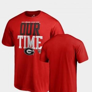 Counter Big & Tall 2019 Sugar Bowl Bound UGA T-Shirt Men's Red