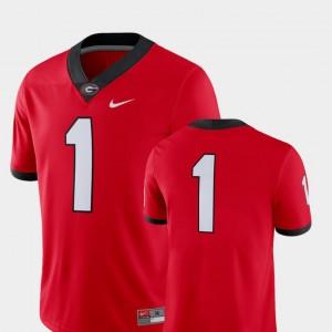 2018 Game Nike For Men Red #1 UGA Bulldogs Jersey College Football