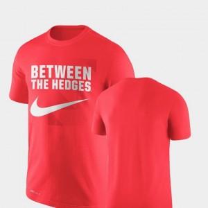 Performance Nike Red For Men Legend Franchise UGA T-Shirt