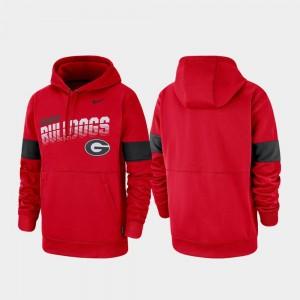 Pullover Nike Mens Red Georgia Hoodie Performance