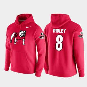 Vault Logo Club Mens Red College Football Pullover Riley Ridley UGA Hoodie #8