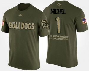 Short Sleeve With Message Camo Military Sony Michel Georgia T-Shirt For Men #1