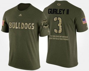 Military For Men's Camo Todd Gurley II UGA T-Shirt #3 Short Sleeve With Message