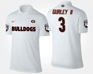 Name and Number Men's Todd Gurley II UGA Polo #3 White