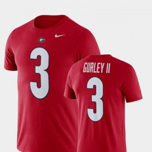 #3 Todd Gurley II UGA Bulldogs T-Shirt Nike Football Performance Name and Number Red For Men