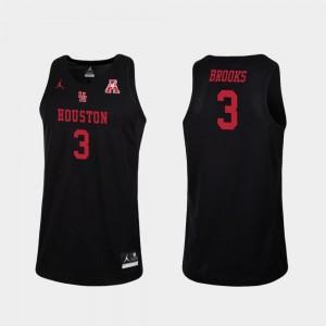 Armoni Brooks University of Houston Jersey Jordan Brand College Basketball Men's Black #3 Replica