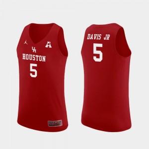 Replica Men's Corey Davis Jr. Cougars Jersey #5 Jordan Brand College Basketball Red