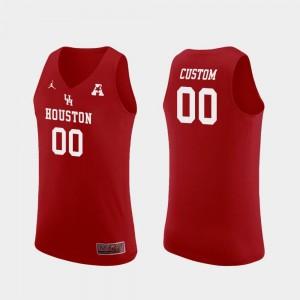 #00 Jordan Brand College Basketball University of Houston Custom Jersey Replica Red Men's