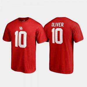 Fanatics Branded Name & Number Red Men College Legends #10 Ed Oliver UH Cougars T-Shirt