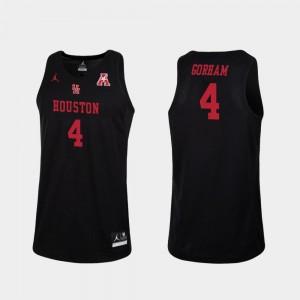 Black Replica Justin Gorham Cougars Jersey Men's Jordan Brand College Basketball #4