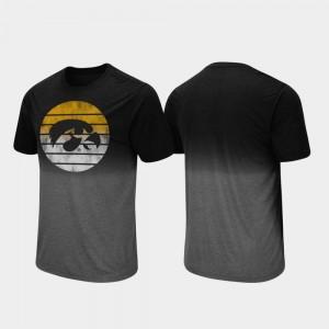 Mens Fancy Walking Black Dip Dye Iowa T-Shirt