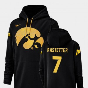 Nike Football Performance Champ Drive Black Colten Rastetter University of Iowa Hoodie For Men's #7