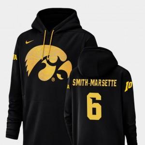 #6 Black Ihmir Smith-Marsette Iowa Hoodie Men's Nike Football Performance Champ Drive