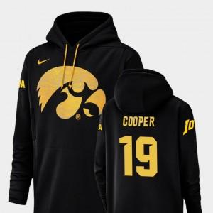 Black Max Cooper Iowa Hoodie Champ Drive Nike Football Performance #19 For Men's